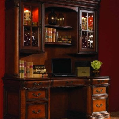 Aspenhome Napa 72″ Credenza Desk & Hutch (I74-322 & I74-323)