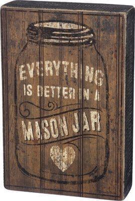 Mason Jar Box Sign