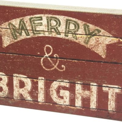 Merry & Bright Box Sign