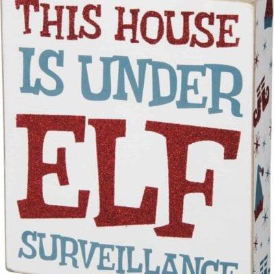 Elf Surveillance Box Sign