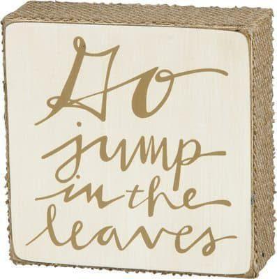 Go Jump Box Sign