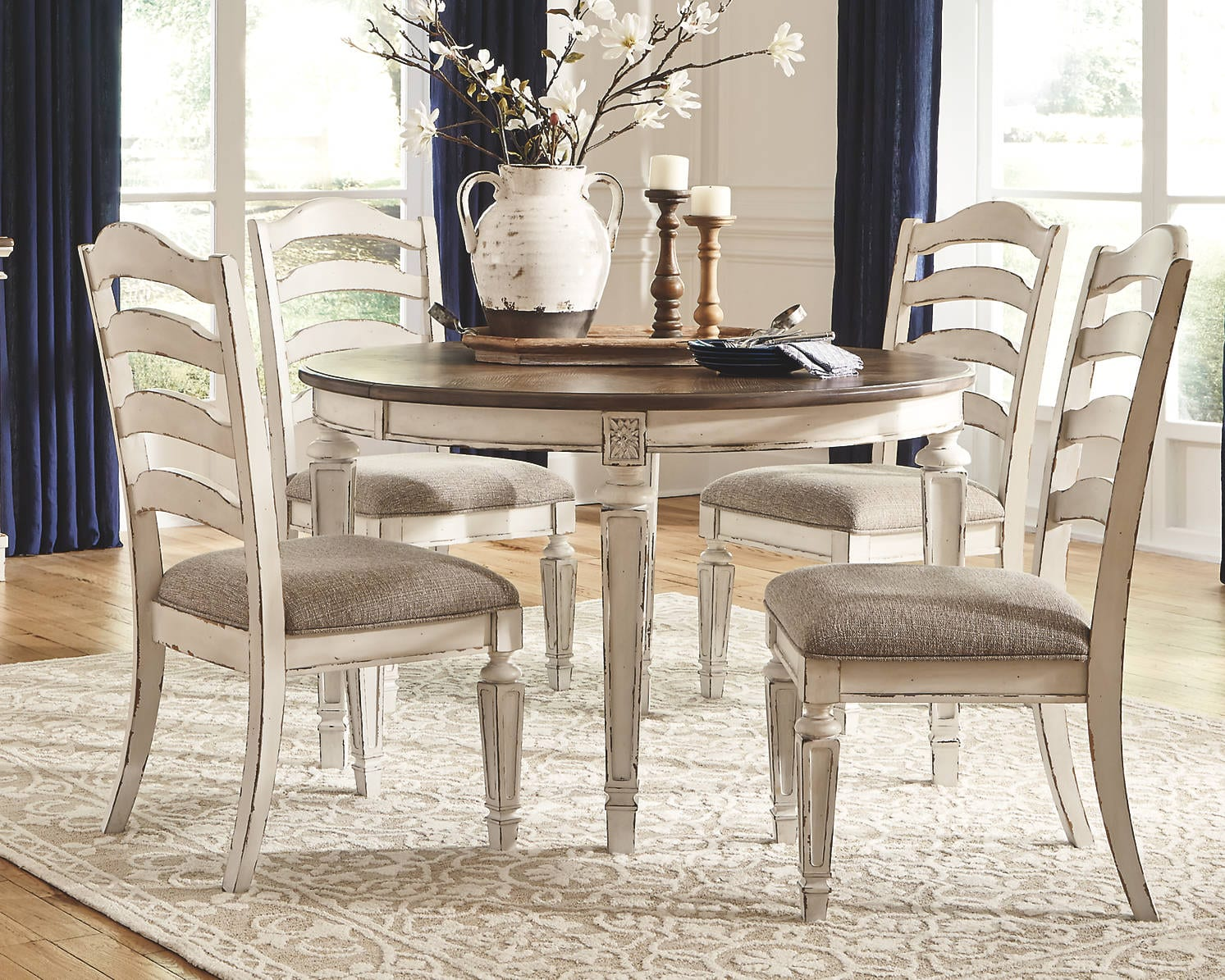 Oval Shaped Dining Table Realyn Series by Ashley Furniture