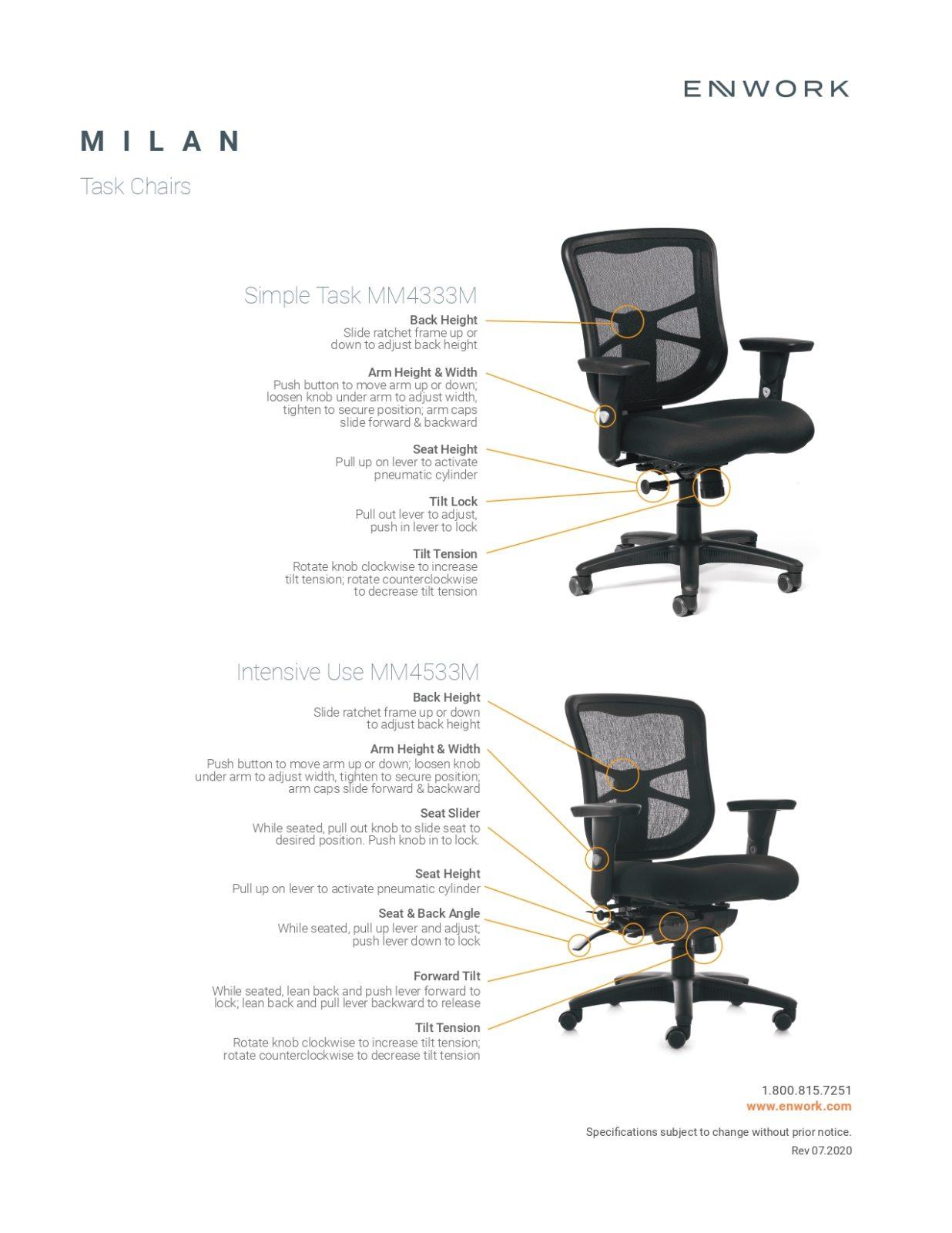 Milan Ultra Mesh Mid Back Task Chair By Enwork Office Barn